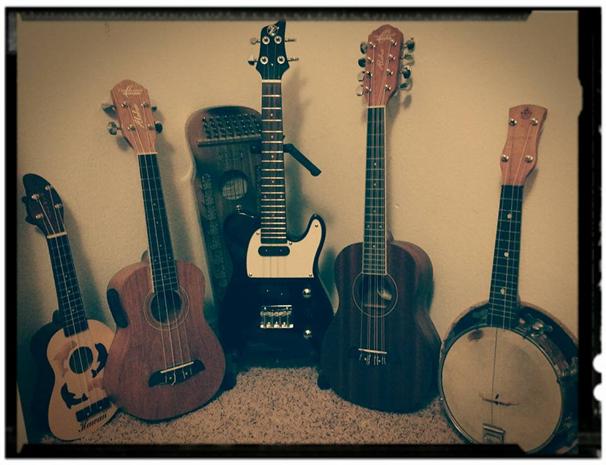 John's guitars