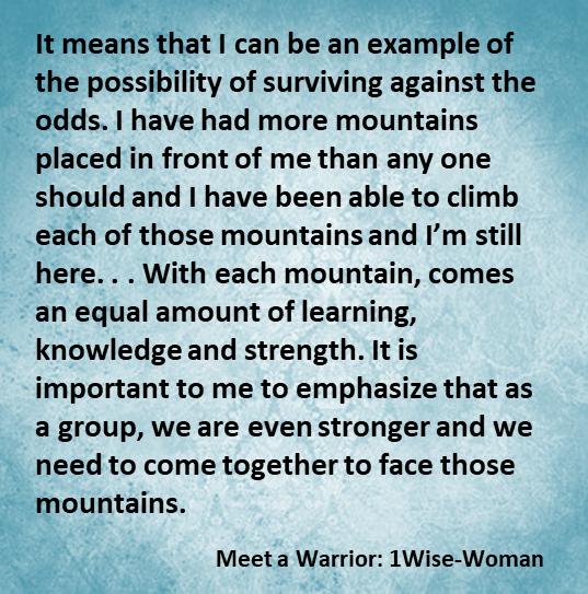 Laurie Meet a Warrior